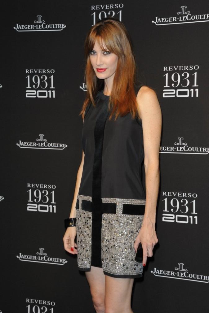 Mareva Galanter lors des 80 ans de la montre Reverso de l'horloger Jaeger-Lecoultre à Paris, le 28 juin 2011.