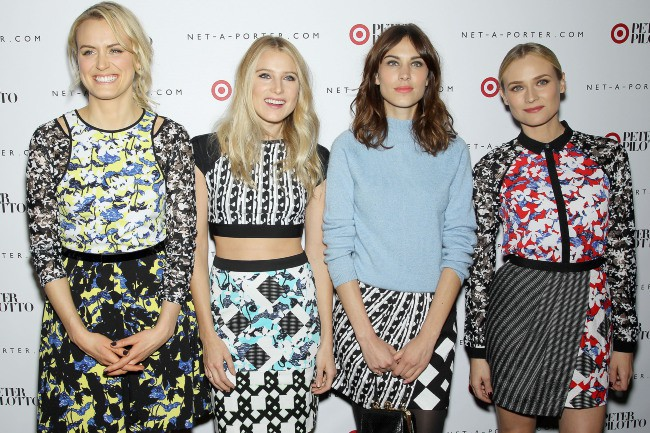 Taylor Schilling, Dree Hemingway, Alexa Chung et Diane Kruger lors de la soirée de lancement de la collection Peter Pilotto for Target à New York...