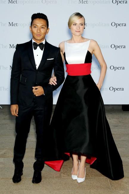 Diane Kruger et Prabal Gurung à New York, le 23 septembre 2013.