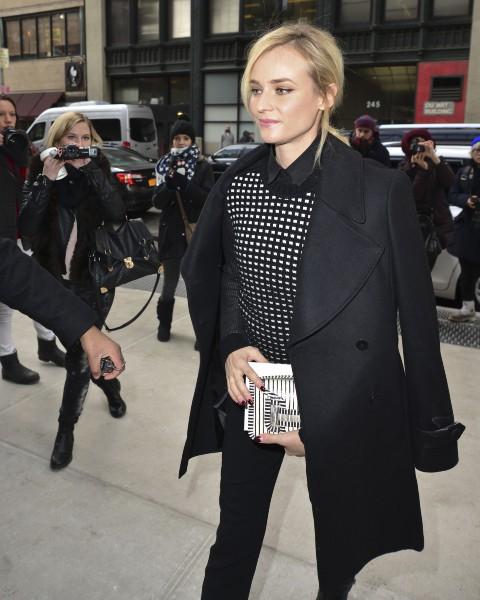 Diane Kruger à New York, le 12 février 2014.