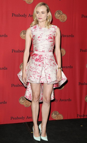 """Diane Kruger lors de la soirée des """"Peabody Awards"""" à New York, le 19 mai 2014."""