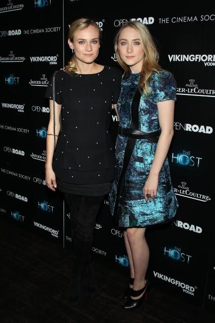 Diane Kruger et Saoirse Ronan le 27 mars 2013 à New York
