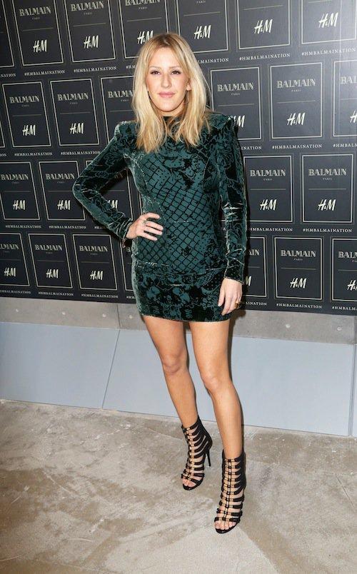 Ellie Goulding au défilé Balmain x H&M à New York, le 20 octobre 2015