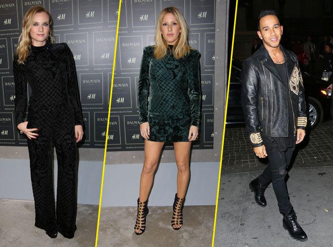 Photos : Diane Kruger, Ellie Goulding, Lewis Hamilton… Balmain x H&M attire les foules !