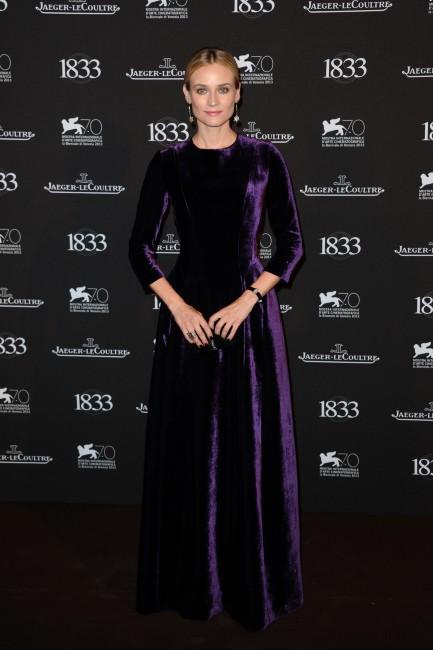Diane Kruger lors de la soirée Jaeger-LeCoultre à Venise, le 2 septembre 2013.