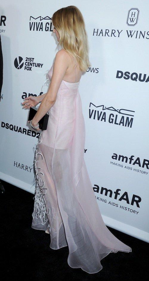 Diane Kruger au gala de l'AmfAR à Los Angeles, le 29 octobre 2015