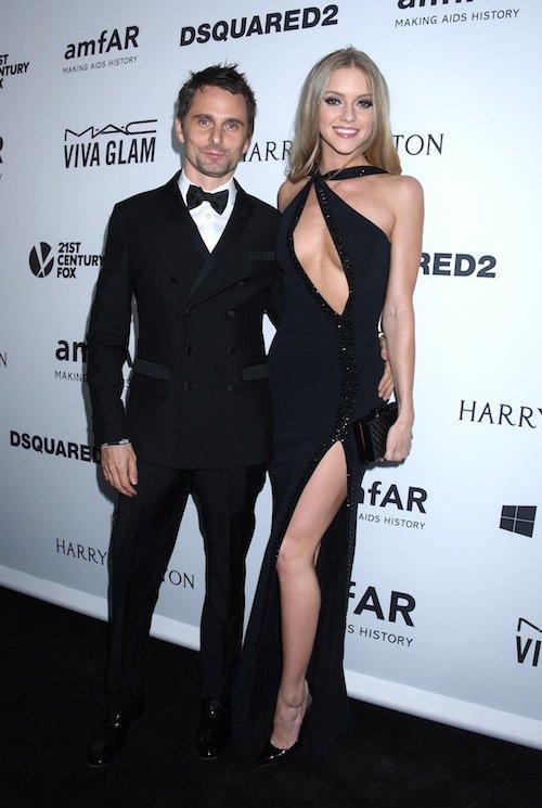 Matthew Bellamy et Elle Evans au gala de l'AmfAR à Los Angeles, le 29 octobre 2015