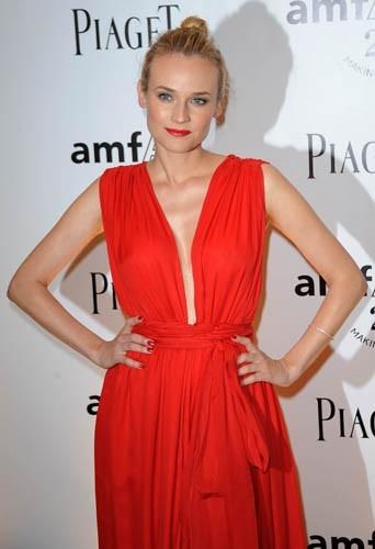Diane Kruger lors du Gala de l'amfAR à Paris, le 23 juin 2011.