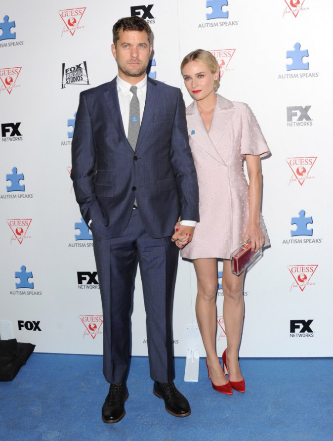 "Diane Kruger et Joshua Jackson lors de l'événement ""Autism Awareness Third Annual Blue Jean Ball"" à Hollywood, le 24 octobre 2013."