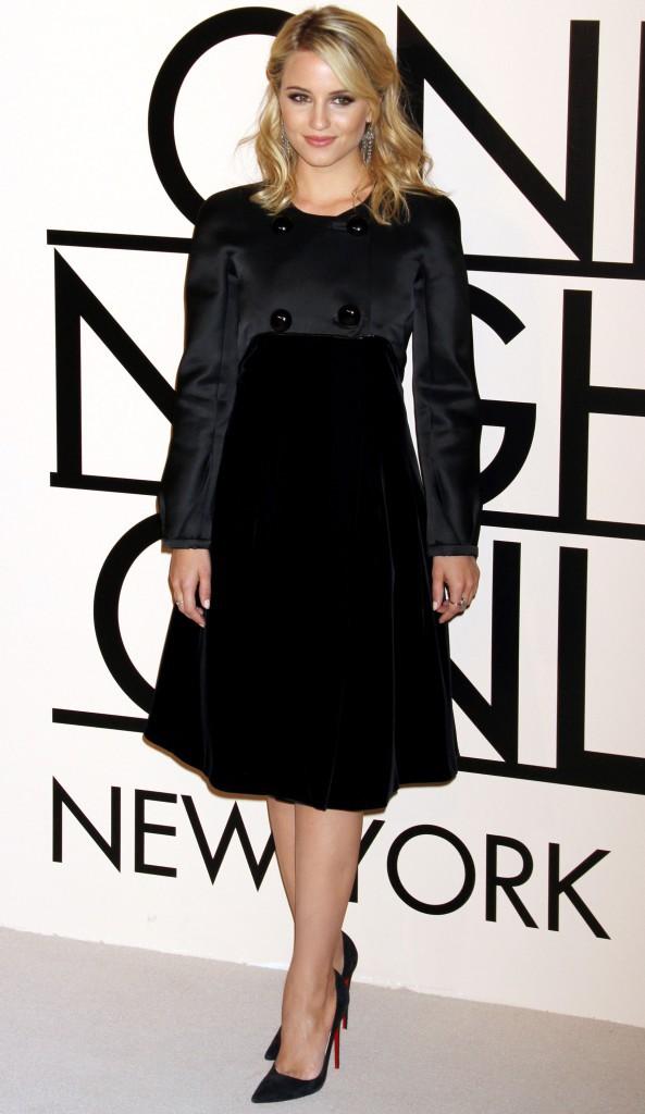 "Dianna Agron lors de la soirée ""Giorgio Armani One Night Only NYC"" à New York, le 24 octobre 2013."