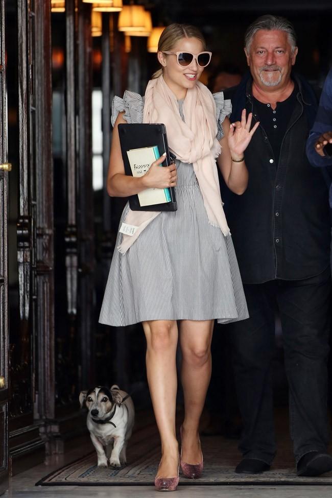 Dianna Agron le 4 août 2012 à Paris