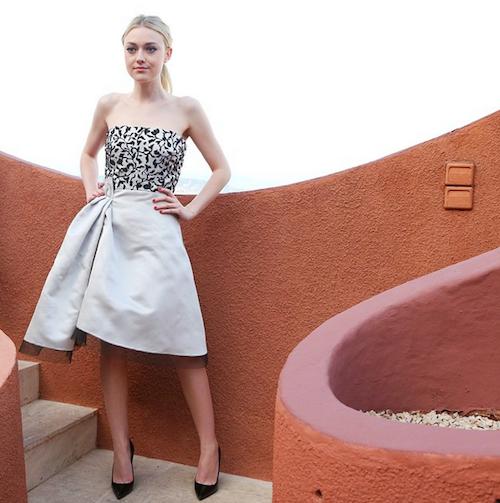 Dakota Fanning au défilé Dior Cruise 2016 à Cannes, le 11 mai 2015