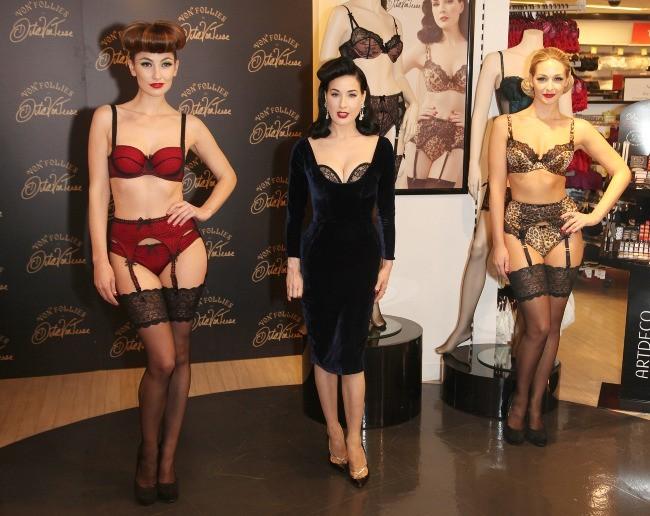 Dita Von Teese le 28 novembre 2012 à Londres