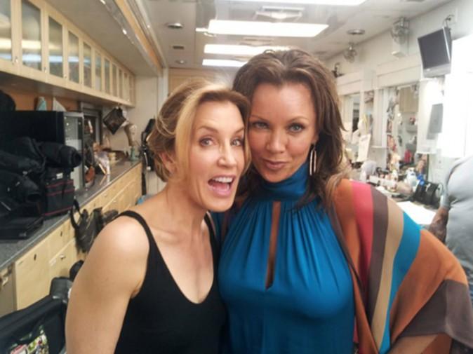 Felicity Huffman et Vanessa Williams le dernier jour de tournage