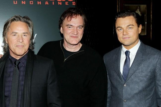 Don Johnson avec Quentin Tarantino et Leonardo DiCaprio le 11 décembre 2012 à New York