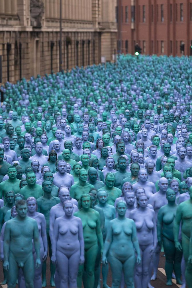 Sea of Hull, installation de Spencer Tunick à Kingston-upon-Hull, le 9 juillet 2016