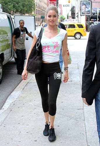Doutzen Kroes à New-York le 10 juillet 2013