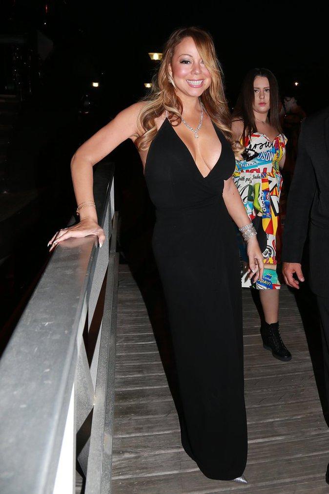 Mariah Carey à la soirée Leonardo Dicaprio