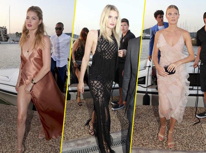 Photos : Doutzen Kroes, Constance Jablonski, Lily Donaldson : glamour et gambettes à l'air pour la méga-soirée de Leonardo Dicaprio