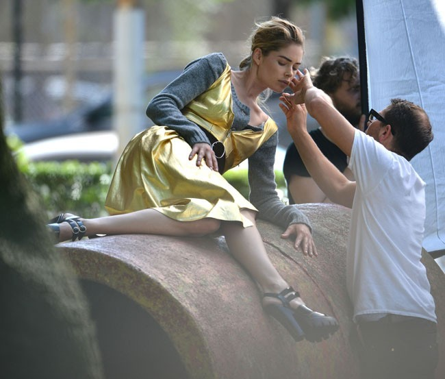 Doutzen Kroes en shooting à New-York le 17 juin 2013