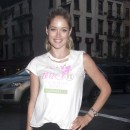 Doutzen Kroes à New-York avec ses copines Victoria's Secret le 11 juillet 2012