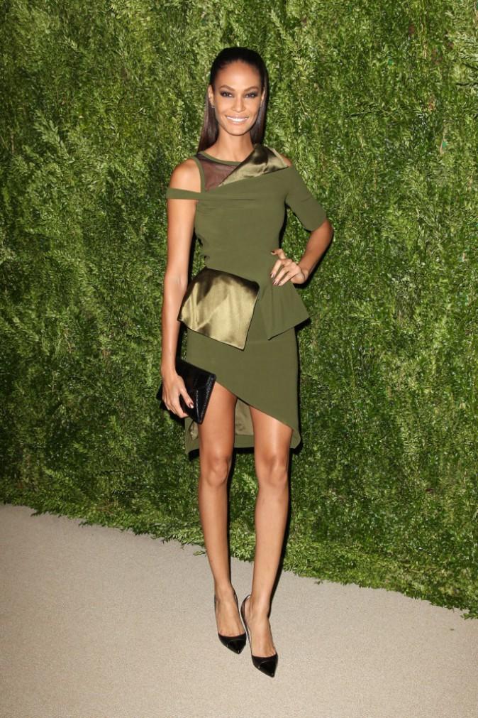 "Joan Smalls lors de la soirée ""CFDA/Vogue Fashion Fund Awards"" à New York, le 11 novembre 2013."