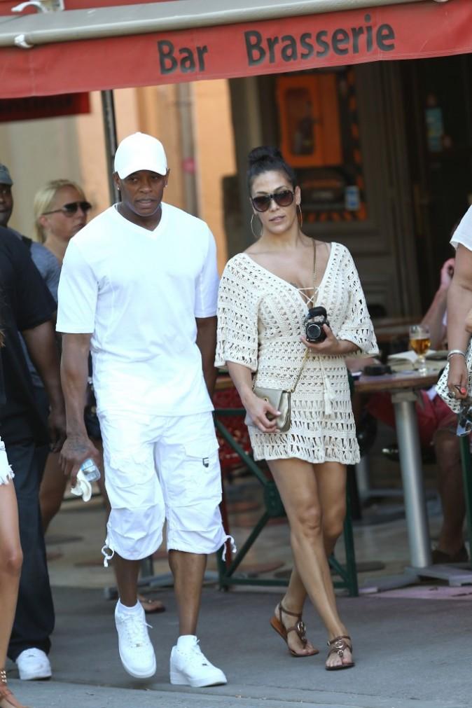 Dr. Dre et sa femme Nicole à St Tropez, le 3 juillet 2012.