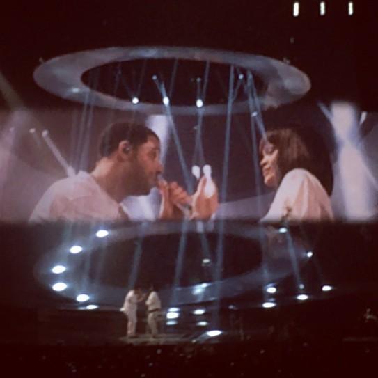 Drake et Rihanna à Paris Bercy, le 25 février 2014.