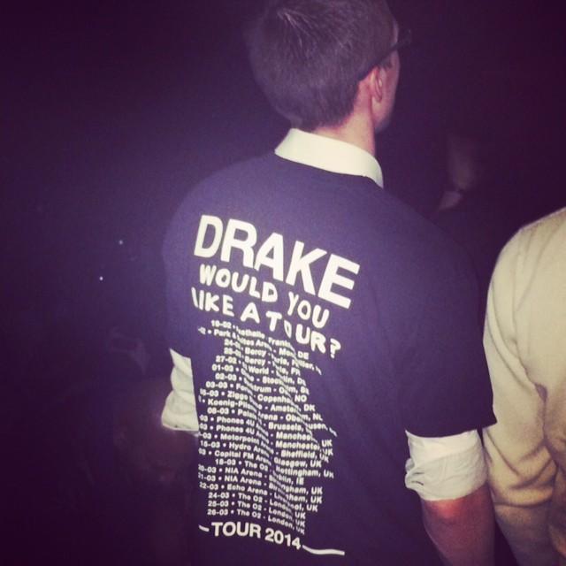 Fan de Drake, lors du concert du rappeur à Paris Bercy, le 25 février 2014.