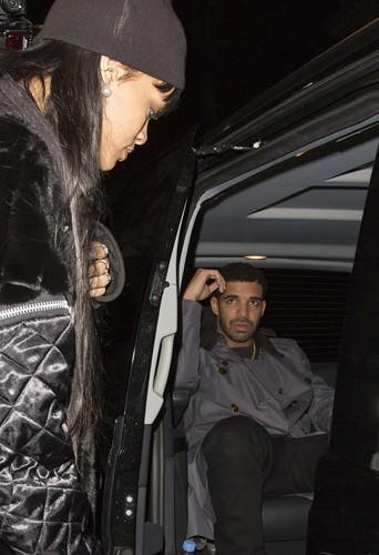 Rihanna et Drake à Londres le 27 mars 2014