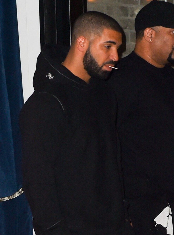 Drake à New York le 14 septembre 2015