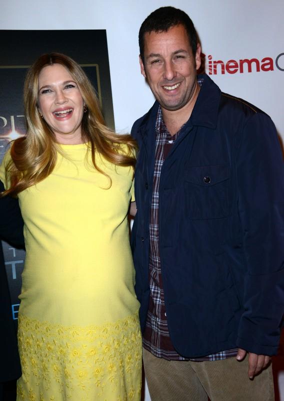 Drew Barrymore et Adam Sandler lors du CinemaCon à Las Vegas, le 27 mars 2014.