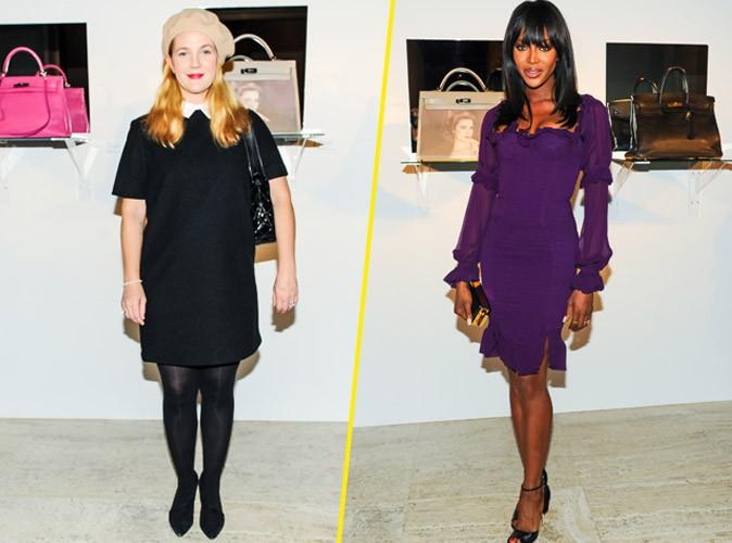 Drew Barrymore et Naomi Campbell le 9 novembre 2014