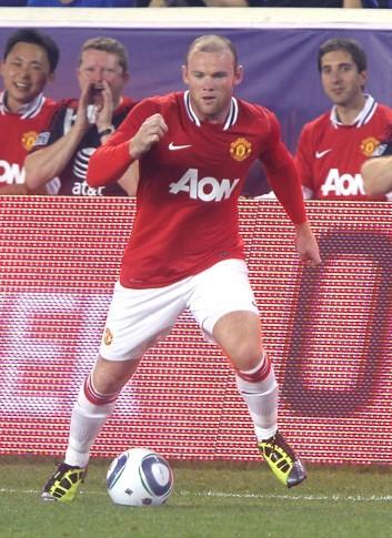 Wayne Rooney lors du match de foot qui opposait les MLS All Stars à Manchester United, à Harrison dans le New Jersey, le 27 juillet 2011.