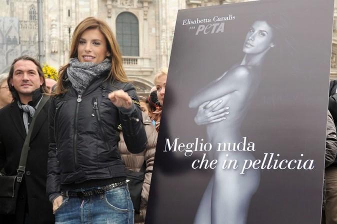 Elisabetta Canalis à Milan ce matin ...