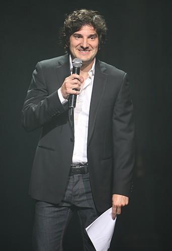 Gaspard Proust lors de la finale Elite Model Look France 2013 à Paris le 17 octobre