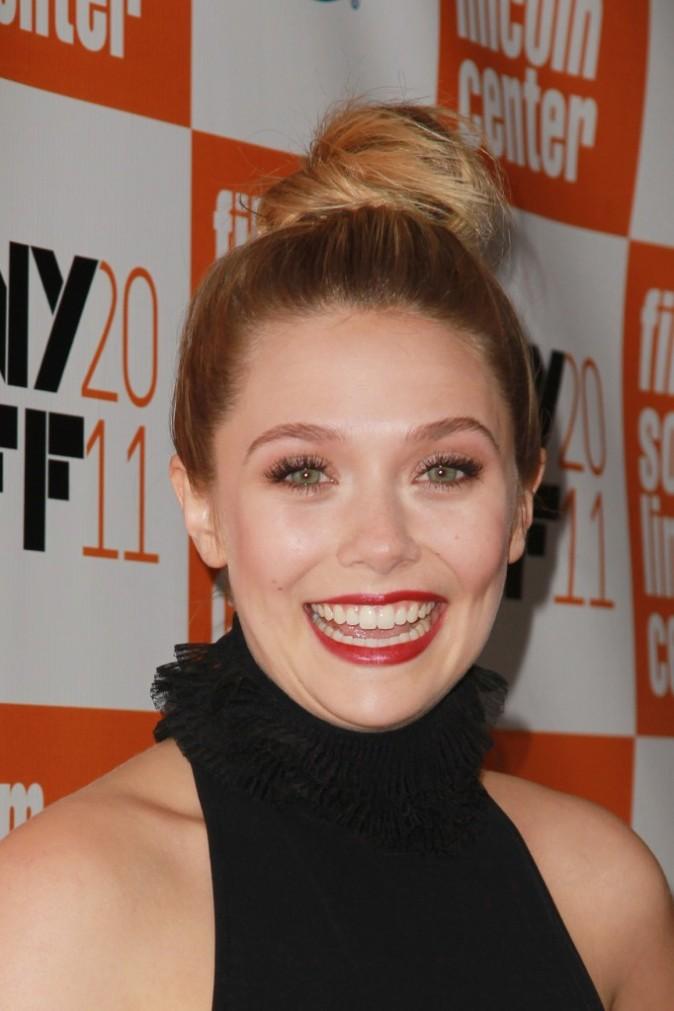 Elizabeth Olsen lors de la présentation de son nouveau film à New York, le 11 octobre 2011.