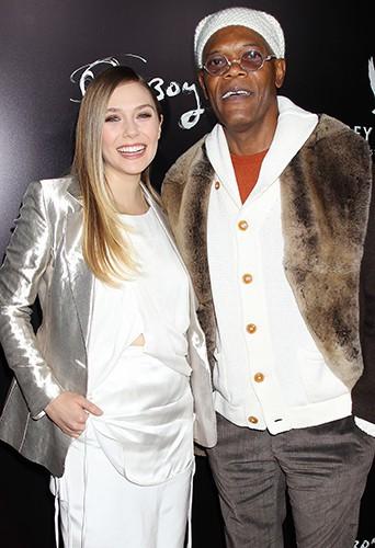 Elizabeth Olsen et Samuel L. Jackson à New-York le 11 novembre 2013