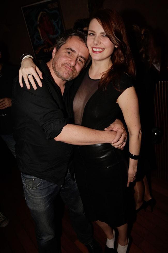 Elodie Frégé en soirée à l'Orphée le 15 octobre 2014