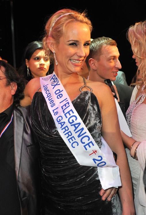 Elodie Gossuin à l'élection de Miss Prestige National 2013 au Lido le 10 décembre 2012