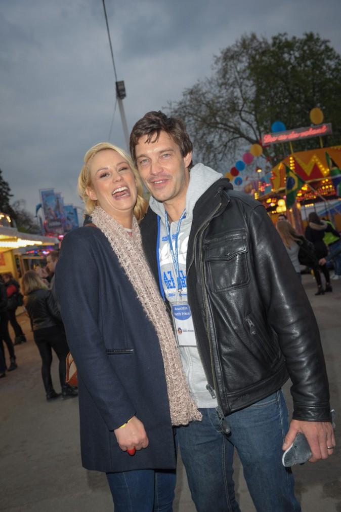 Elodie Gossuin et Bertrand Lacherie à l'ouverture de la Foire du Trône le 4 avril 2014
