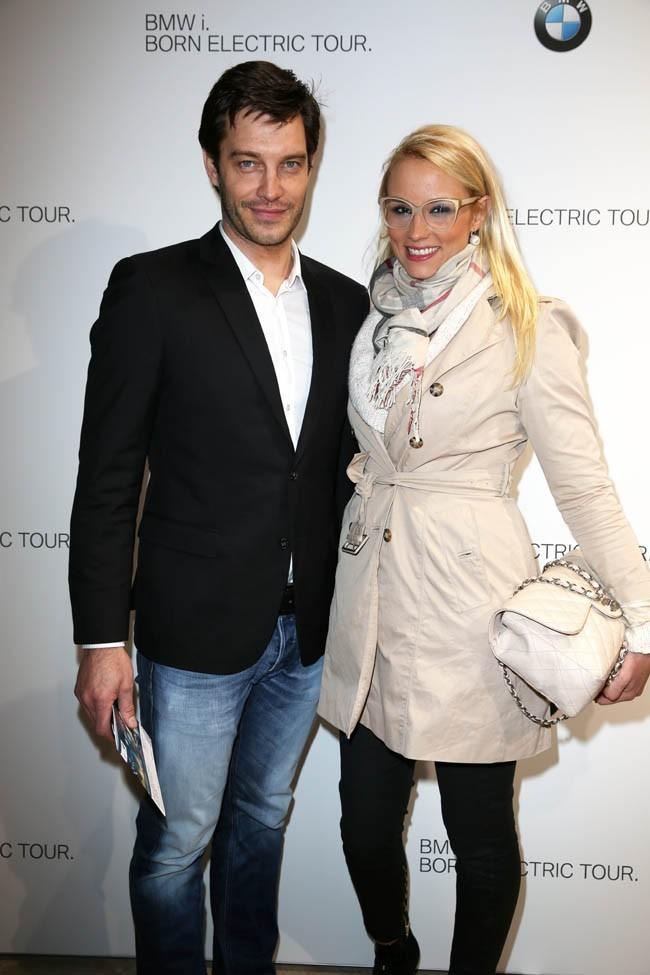 Bertrand Lacherie et Elodie Gossuin à la soirée BMW organisée au Grand Palais de Paris le 3 avril 2013