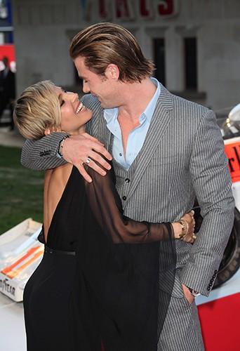Elsa Pataky et Chris Hemsworth à Londres le 2 septembre 2013
