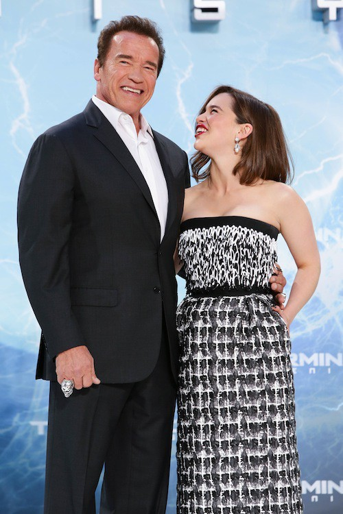 Photos : Emilia Clarke sublime et complice avec Arnold Schwarzenegger !