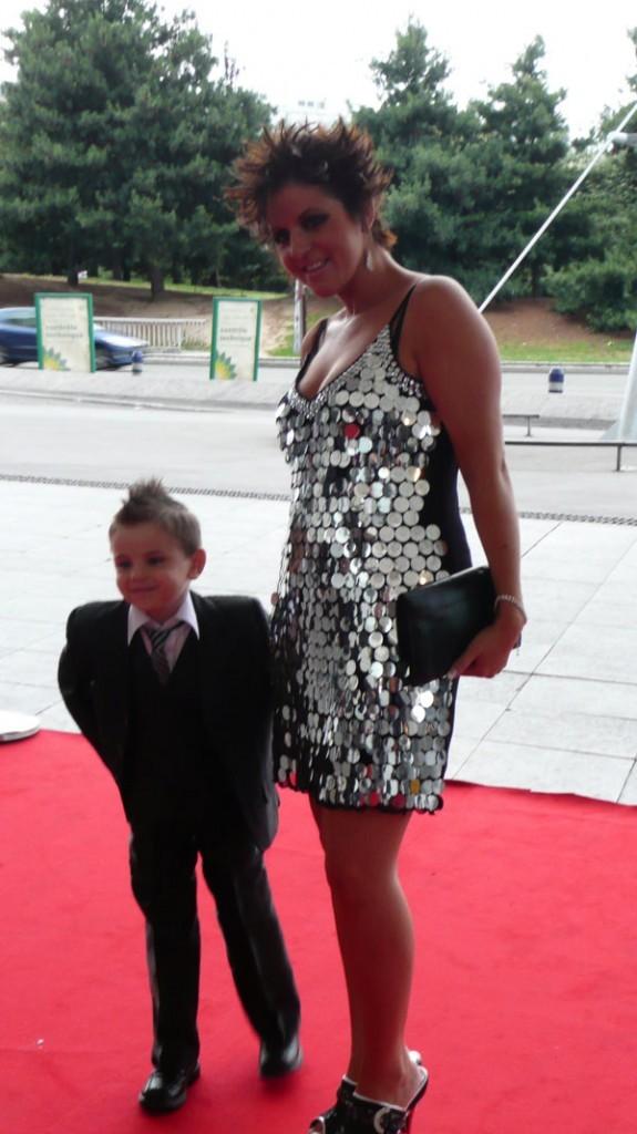 Cindy Sander avec son fils Enzo