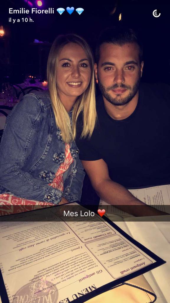 Loïc Fiorelli et son amie