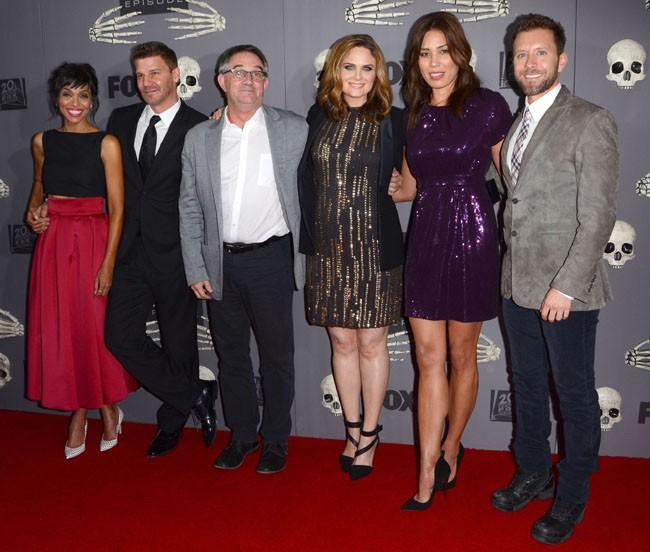 Emily Deschanel à la célébration du 200e épisode de Bones organisée à West Hollywood le 8 décembre 2014
