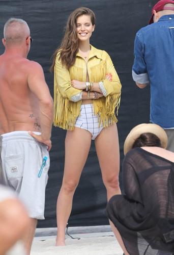 Emily DiDonato à Miami le 14 avril 2014