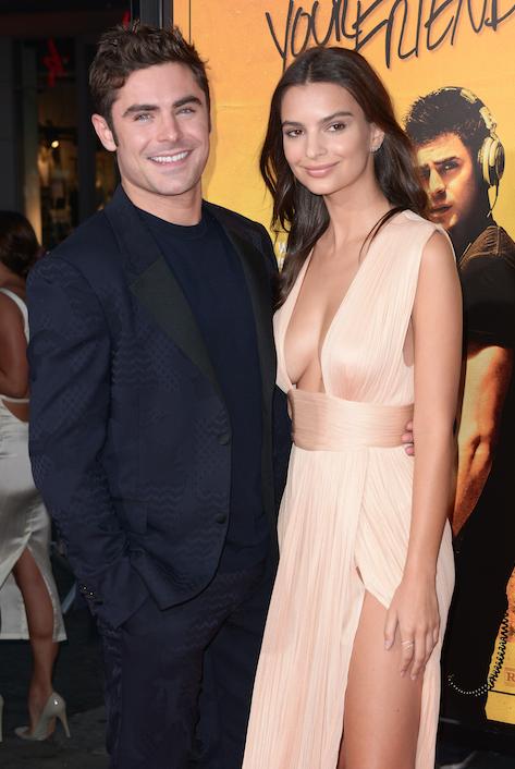 Emily Ratajkowski et Zac Efron le 20 août 2015