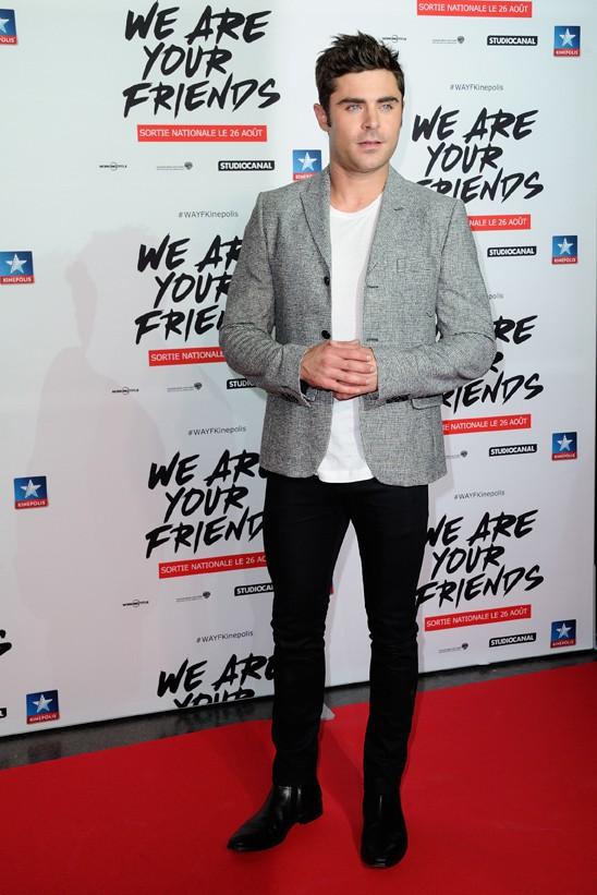 Zac Efron à Lomme le 12 août 2015